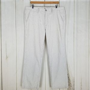 7 For All Mankind Blue Pinstripe Slim Dylan Pants